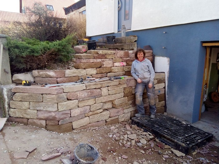 Trockenmauer Happy End bei Babs und Wolfgang